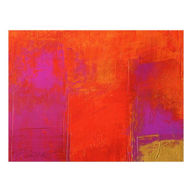Glas Spritzschutz - Magenta Energy - Querformat - 4:3