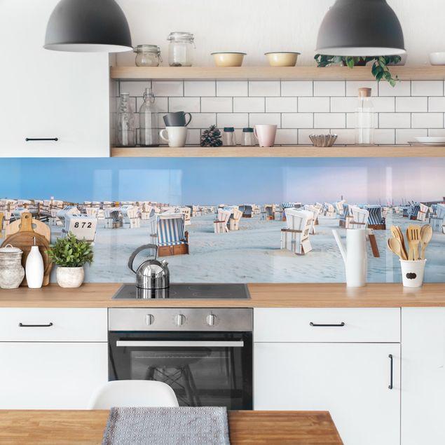 Küchenrückwand - Strandkörbe an der Nordsee