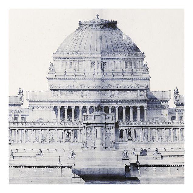 Glas Spritzschutz - Pri: de Rome Skizze I - Quadrat - 1:1