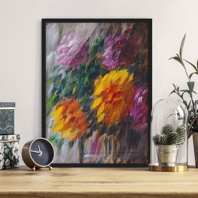 Bild mit Rahmen - Alexej von Jawlensky - Chrysanthemen im Sturm - Hochformat 3:4