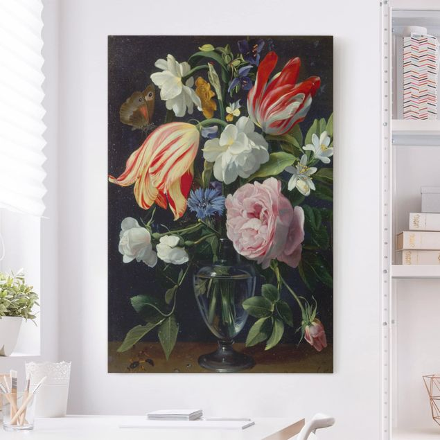 Leinwandbild - Daniel Seghers - Vase mit Blumen - Hochformat 3:2