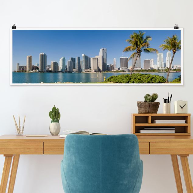 Poster - Miami Beach Skyline - Panorama Querformat