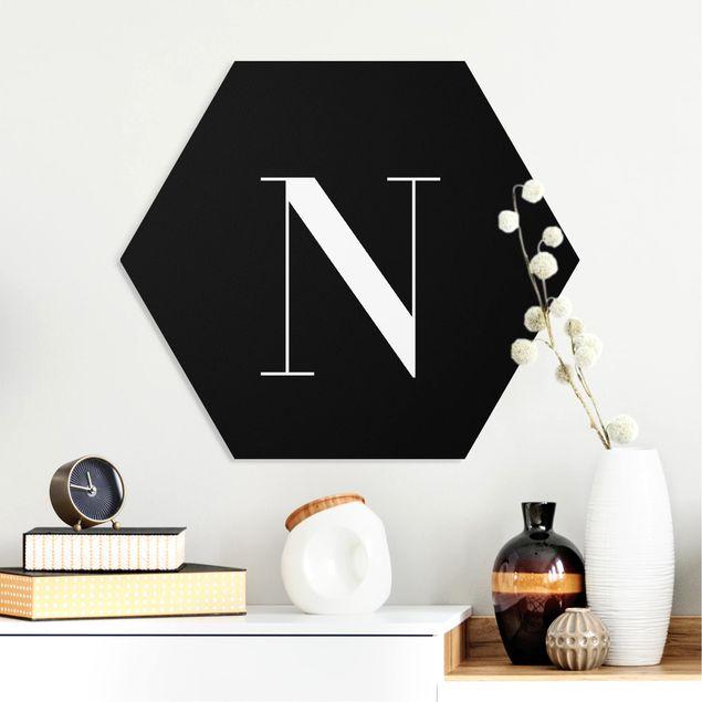 Hexagon Bild Forex - Buchstabe Serif Schwarz N