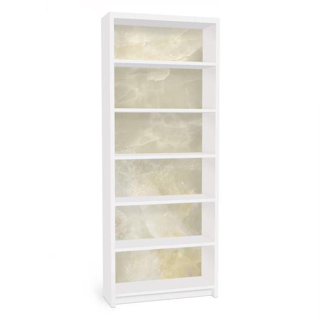 Möbelfolie für IKEA Billy Regal - Onyx Marmor Creme