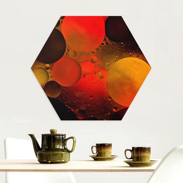 Hexagon Bild Alu-Dibond - Astronomisch