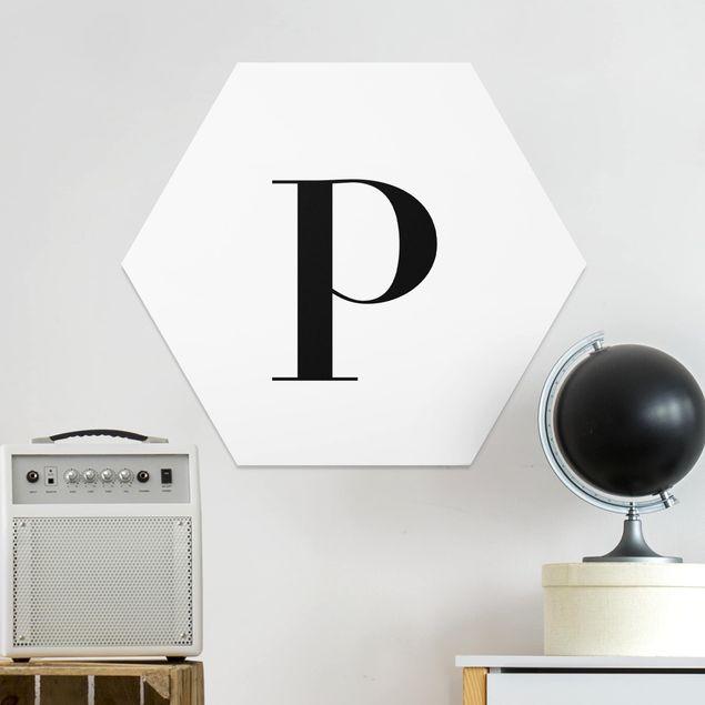 Hexagon Bild Forex - Buchstabe Serif Weiß P
