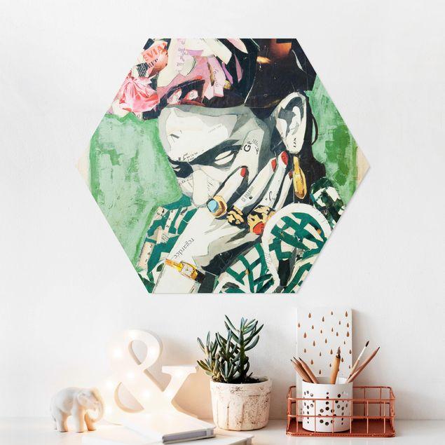 Hexagon Bild Forex - Frida Kahlo - Collage No.3