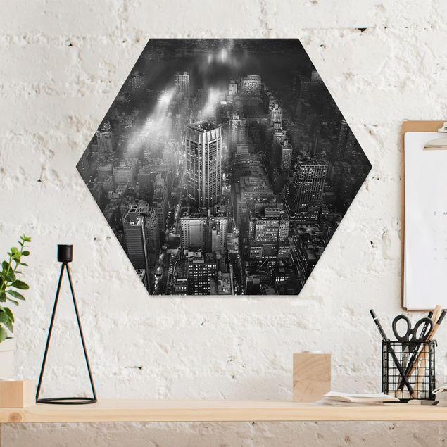 Hexagon Bild Forex - Sonnenlicht über New York City