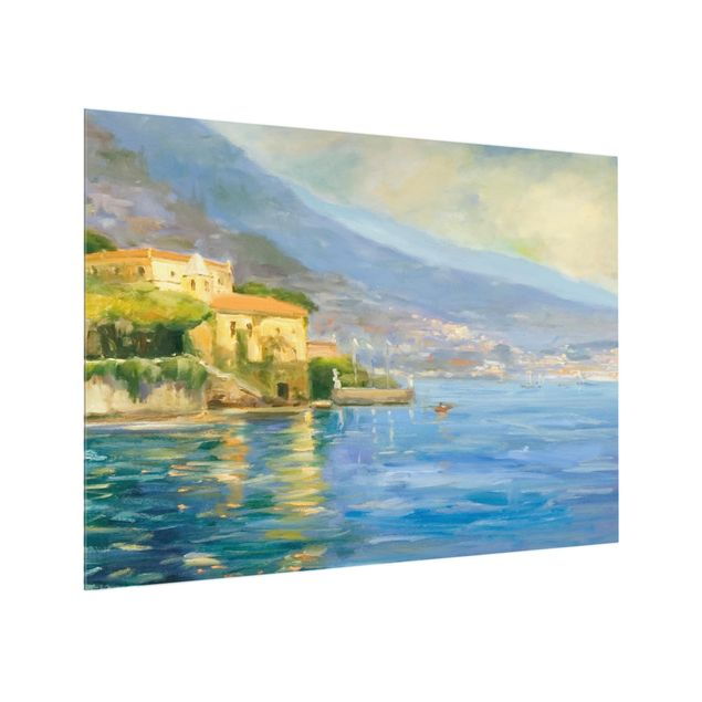 Glas Spritzschutz - Italienische Landschaft - Meer - Querformat - 4:3