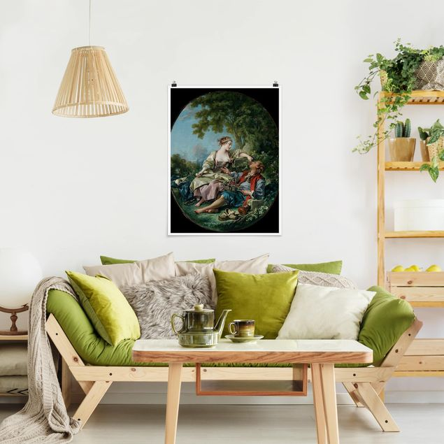 Poster - François Boucher - Die Holzschuhe - Hochformat 3:4
