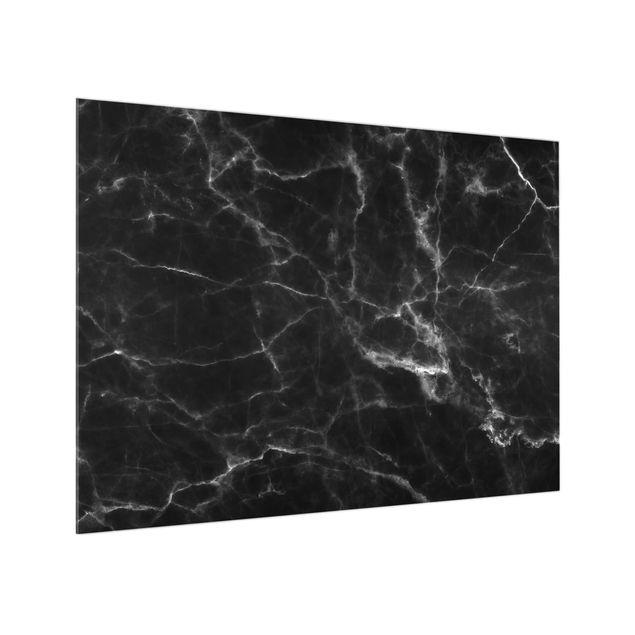 Glas Spritzschutz - Nero Carrara - Querformat - 4:3