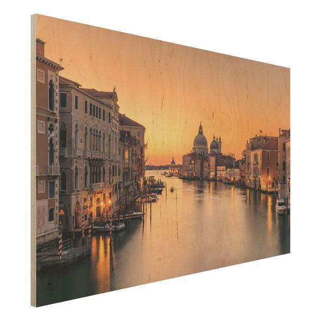 Holzbild - Goldenes Venedig - Querformat 2:3