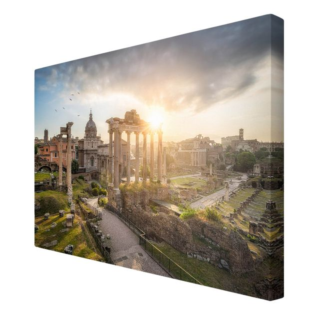 Leinwandbild - Forum Romanum bei Sonnenaufgang - Querformat 3:2