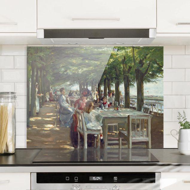 Spritzschutz Glas - Max Liebermann - Terrasse des Restaurants Jacob - Querformat 3:4