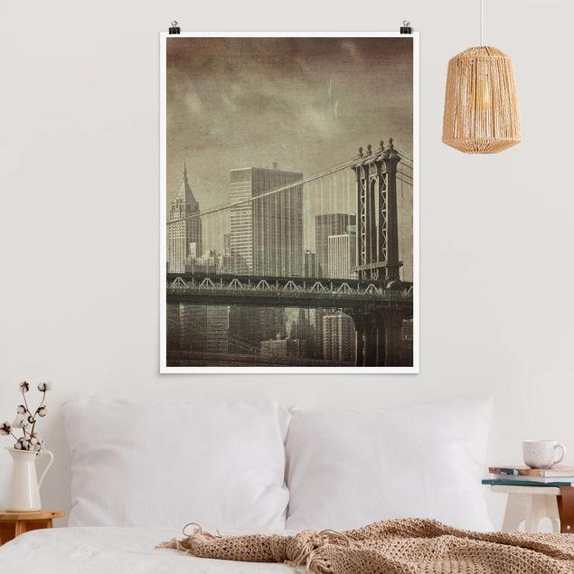 Poster - Vintage New York - Hochformat 3:4