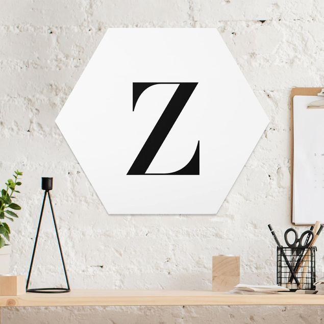 Hexagon Bild Forex - Buchstabe Serif Weiß Z
