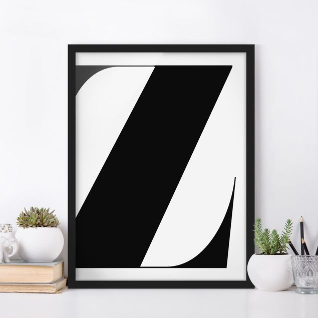 Bild mit Rahmen - Antiqua Letter Z - Hochformat 3:4