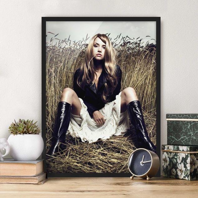 Bild mit Rahmen - Country Girl - Hochformat 3:4