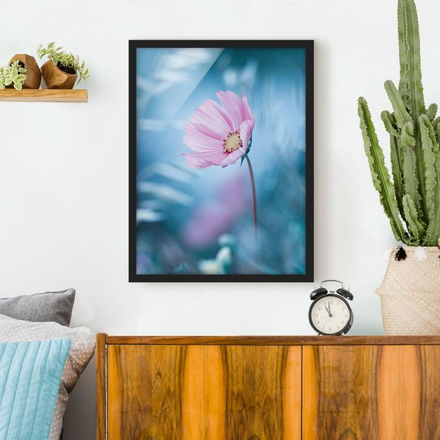Bild mit Rahmen - Blüte in Pastell - Hochformat 3:4