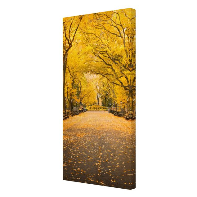 Leinwandbild - Herbst im Central Park - Hochformat 1:2