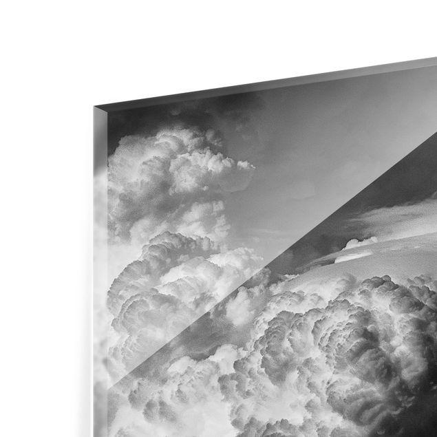 Glas Spritzschutz - Ein Sturm zieht auf - Quadrat - 1:1