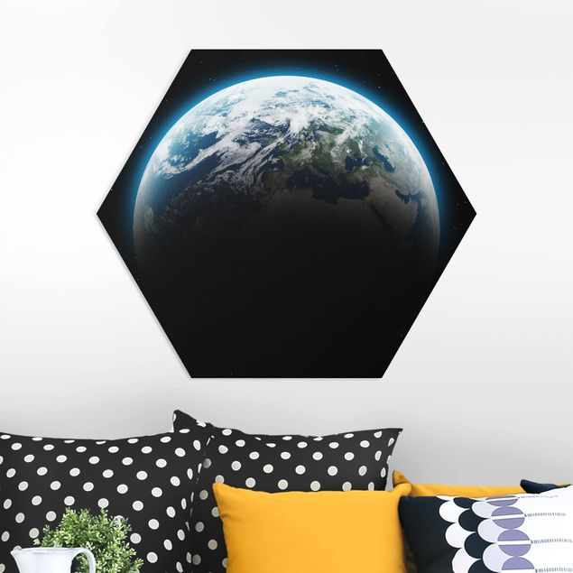 Hexagon Bild Forex - Illuminated Planet Earth
