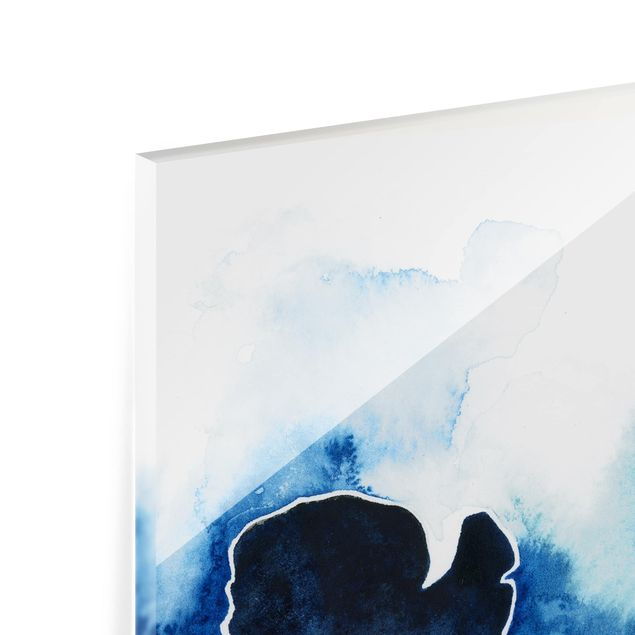 Glas Spritzschutz - Gletscherbruch - Quadrat - 1:1