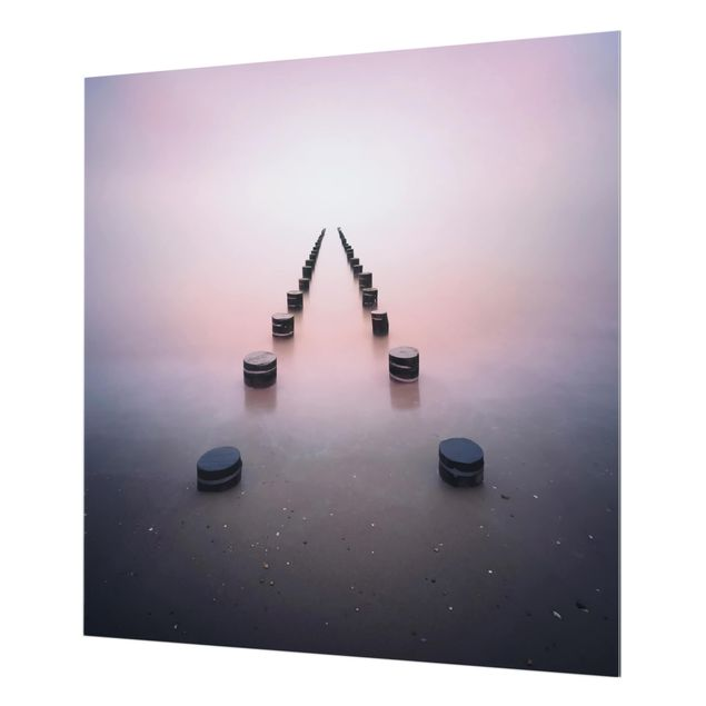 Glas Spritzschutz - Zen am Strand - Quadrat - 1:1