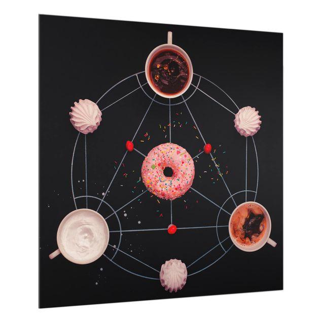 Glas Spritzschutz - Süße Alchemie des Kochens - Quadrat - 1:1