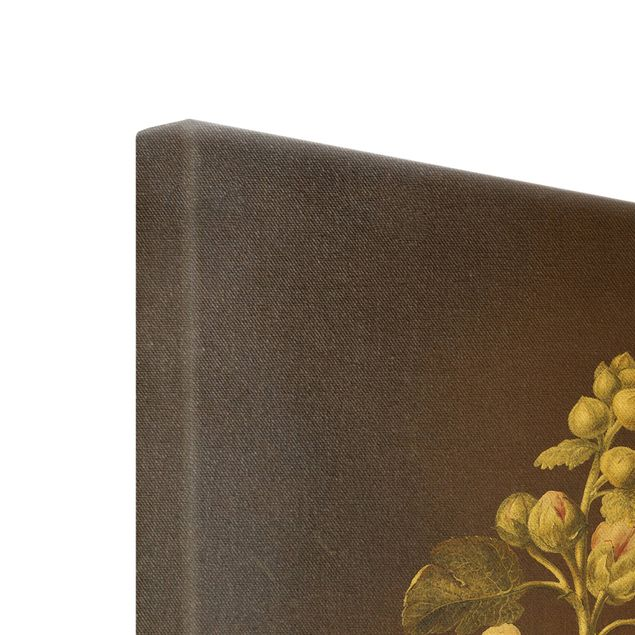 Leinwandbild Gold - Barbara Regina Dietzsch - Stockrose - Hochformat 2:3