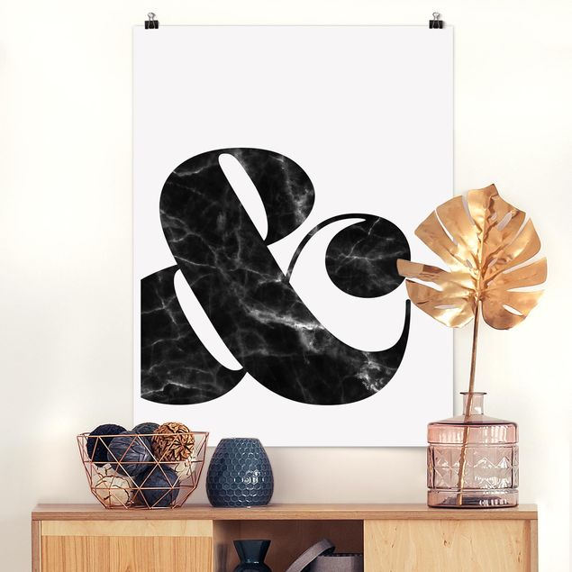 Poster - Ampersand Marmor - Hochformat 3:4
