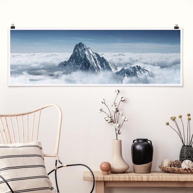 Poster - Die Alpen über den Wolken - Panorama Querformat