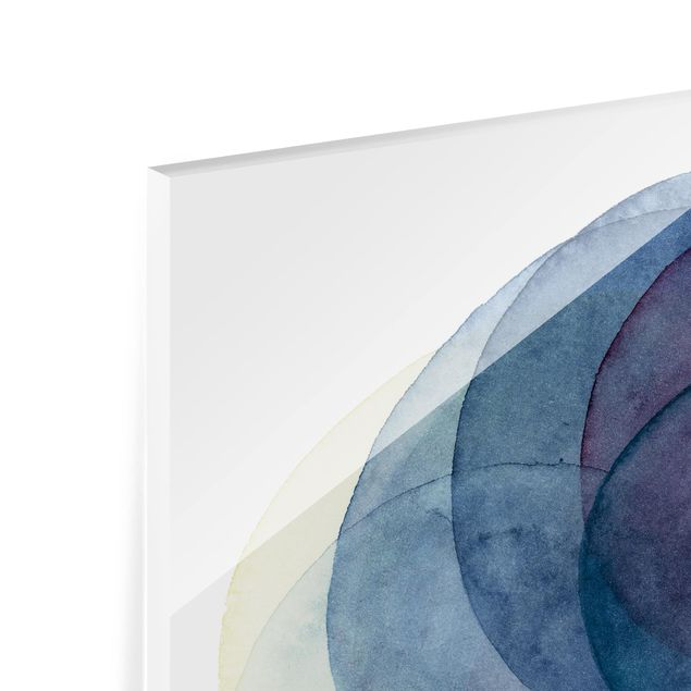 Glas Spritzschutz - Urknall - lila - Quadrat - 1:1