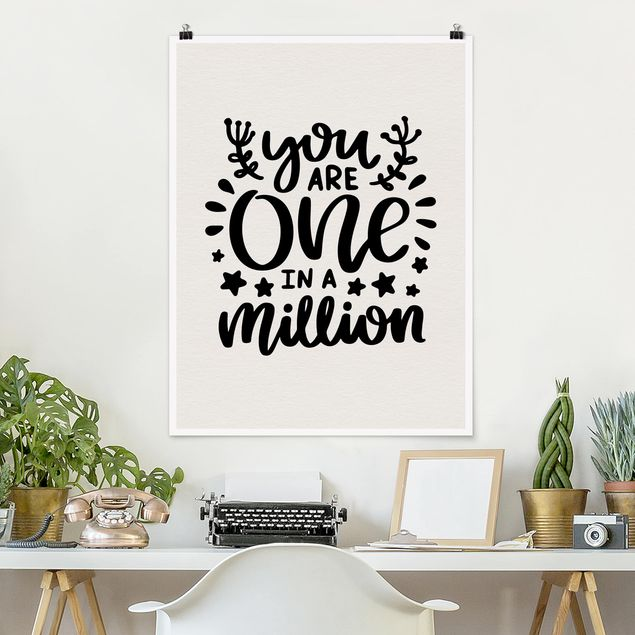 Poster - You are one in a million - Hochformat 3:4