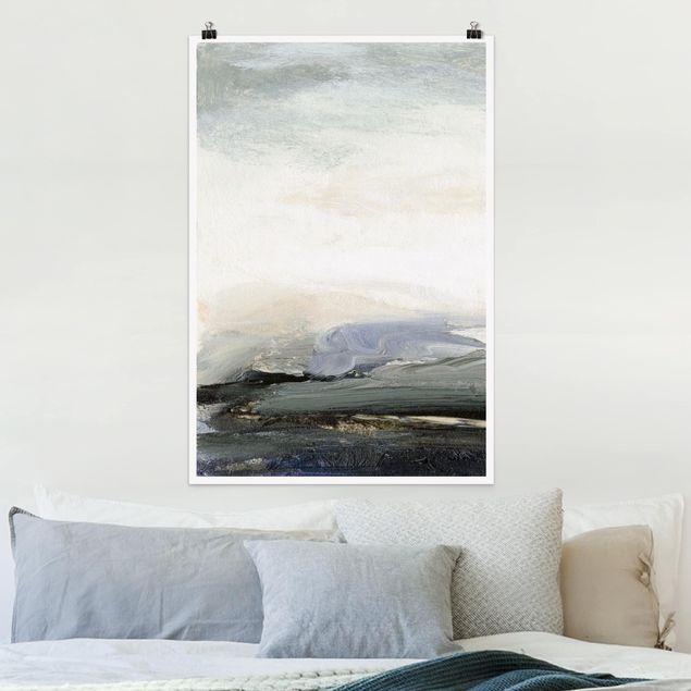 Poster - Horizont bei Tagesanbruch - Hochformat 3:2