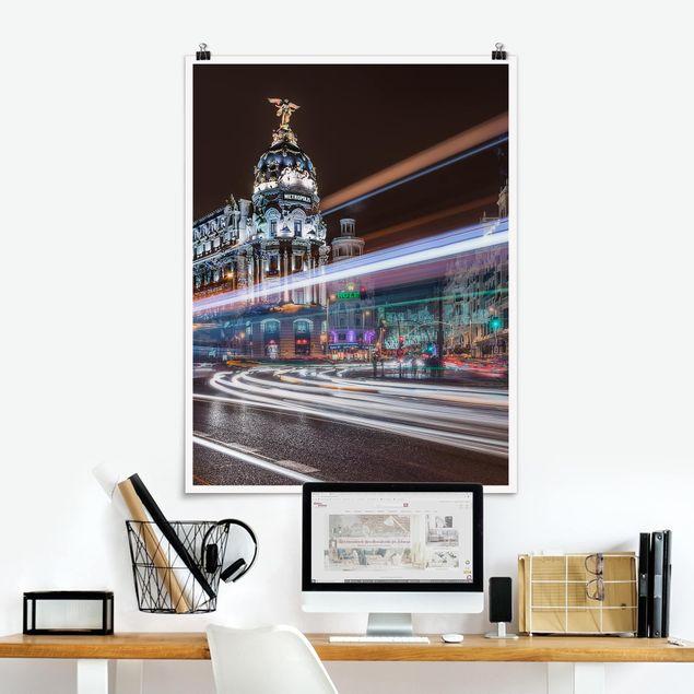 Poster - Madrid Traffic - Hochformat 3:4
