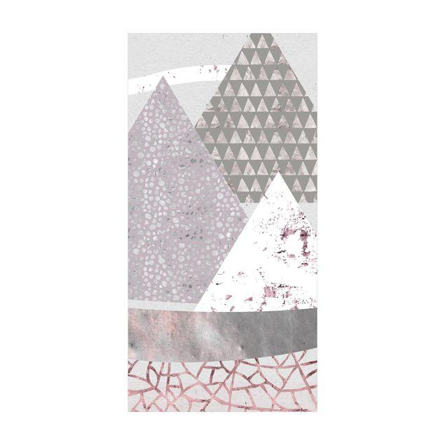 Vinyl-Teppich - Abstrakte Berglandschaft Pastellmuster - Hochformat 1:2