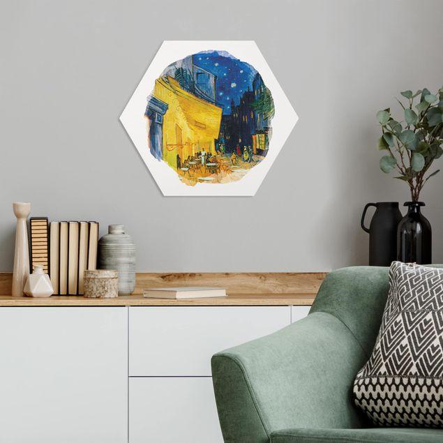 Hexagon Bild Forex - Wasserfarben - Vincent van Gogh - Café-Terrasse in Arles
