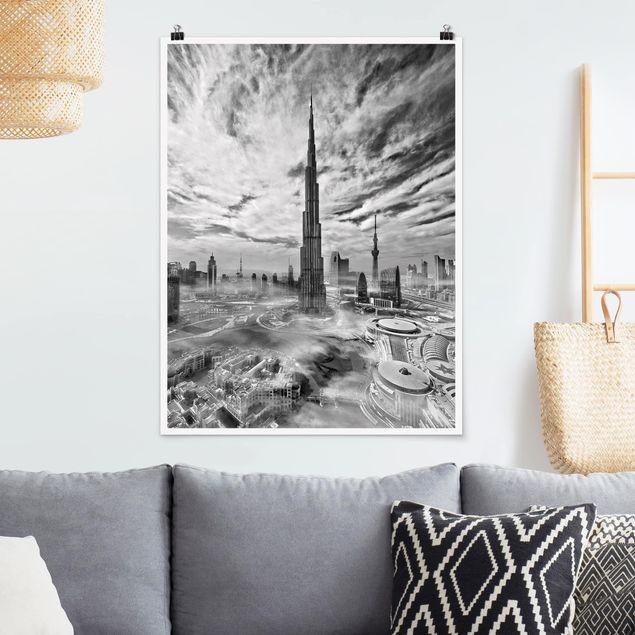 Poster - Dubai Super Skyline - Hochformat 3:4