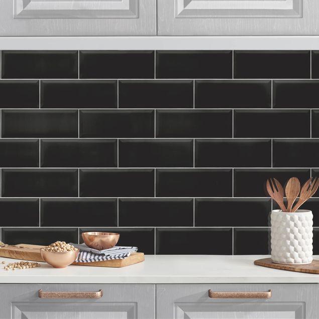 Küchenrückwand - Keramikfliesen Schwarz