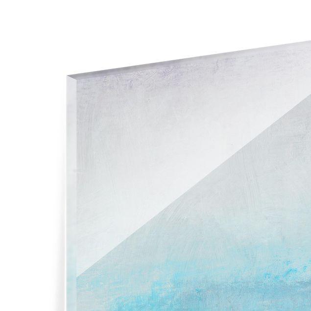 Glas Spritzschutz - Grenzenlose Weite I - Quadrat - 1:1