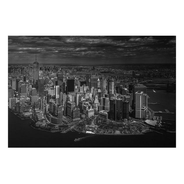 Forex Fine Art Print - New York - Manhattan aus der Luft - Querformat 2:3