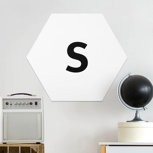 Hexagon Bild Forex - Buchstabe Weiß S