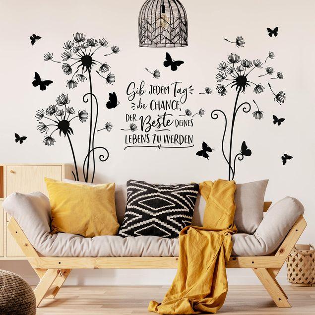 Wandtattoo - Pusteblume - Der beste Tag deines Lebens