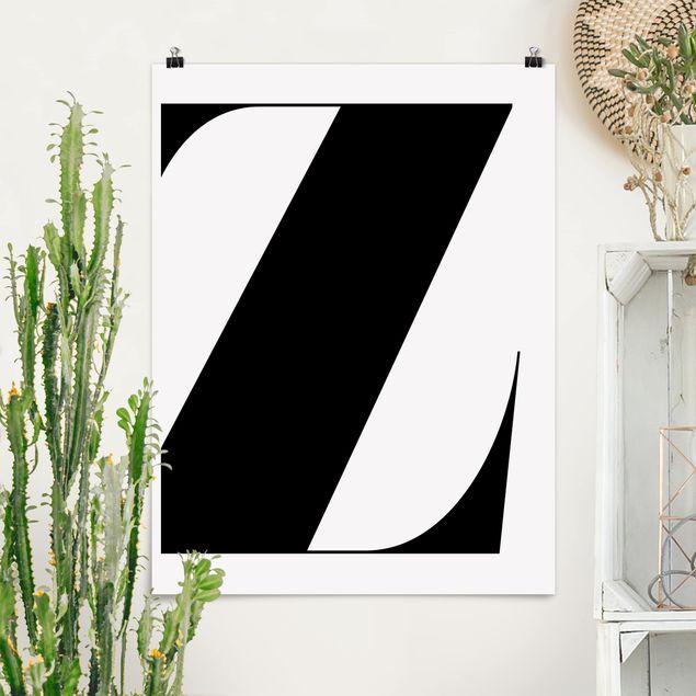 Poster - Antiqua Letter Z - Hochformat 3:4