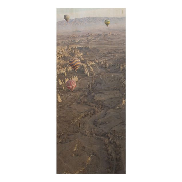 Holzbild - Heißluftballons über Anatolien - Panel