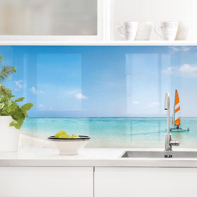 Küchenrückwand - Katamaran auf dem Indischen Ozean