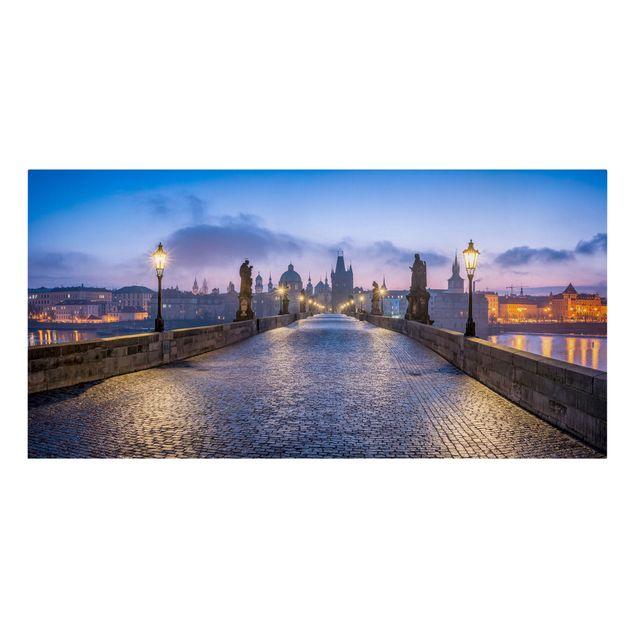 Leinwandbild - Karlsbrücke in Prag - Querformat 2:1
