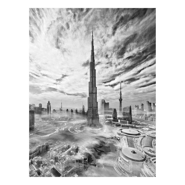 Forex Fine Art Print - Dubai Super Skyline - Hochformat 4:3