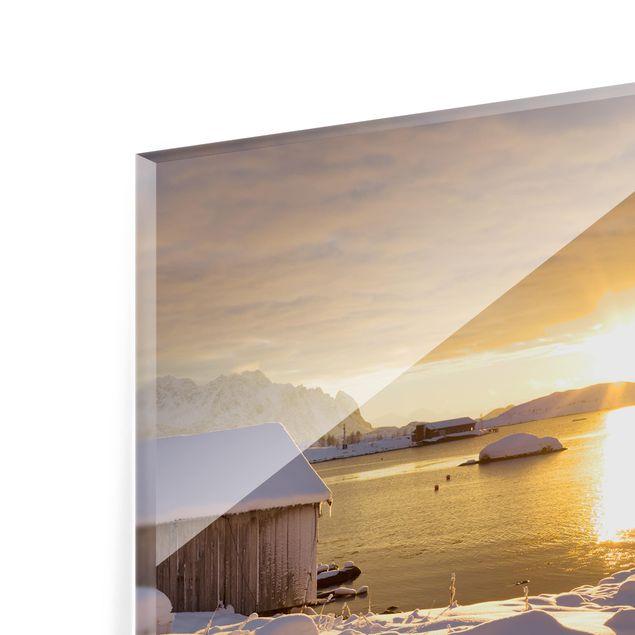 Glas Spritzschutz - Bootshaus bei Gammelgarden - Quadrat - 1:1